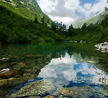 Badukskoe Lake in Caucasus by Artem Sapegin
