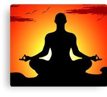 Male Yoga Meditating Canvas Print