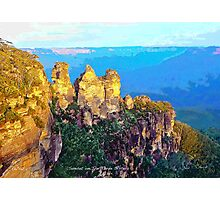 Sunset on The Three Sisters Photographic Print
