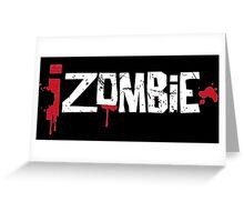 iZombie logo white Greeting Card