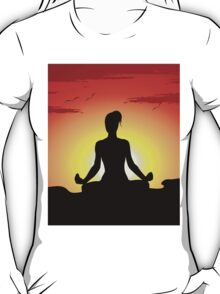 Female Yoga Meditating  T-Shirt