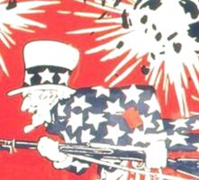 4th of July - Uncle Sam Sticker