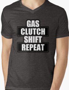 Gas clutch shift repeat Mens V-Neck T-Shirt