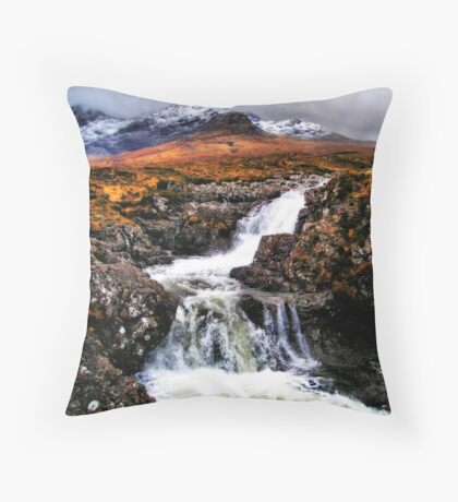 Glen Brittle to the Cuillin  Throw Pillow