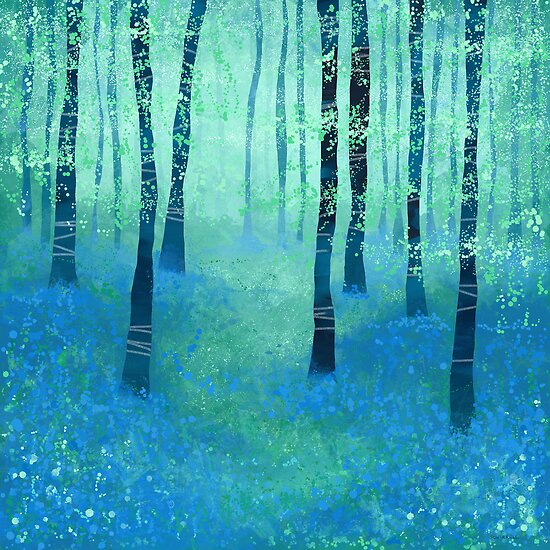 Bluebells, Challock by Nic Squirrell