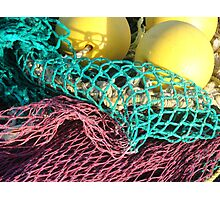 Bright Fish Net Colors Photographic Print