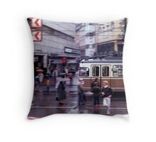 German Tram Throw Pillow