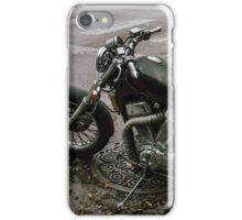 Motorcycle on the street iPhone Case/Skin