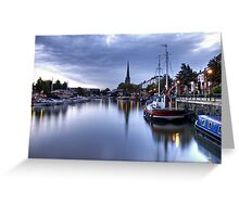 St Mary Redcliffe and Docks Greeting Card