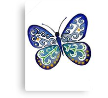 Colorful Tribal Butterfly painting by Artist Christie Marie Elder Canvas Print