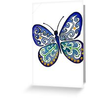 Colorful Tribal Butterfly painting by Artist Christie Marie Elder Greeting Card