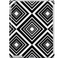 Retro Diamond Pattern Black and White iPad Case/Skin