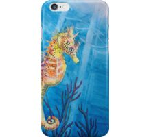"""""""Sea Freckles"""" Tropical Sea Horse watercolor painting by Christie Marie Elder iPhone Case/Skin"""