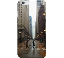 Walking in Chicago Rain iPhone Case/Skin
