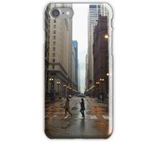 Walking in Chicago Rain iPhone Case/Skin