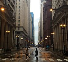 Walking in Chicago Rain by PuddleJumpPrint