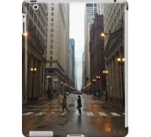 Walking in Chicago Rain iPad Case/Skin