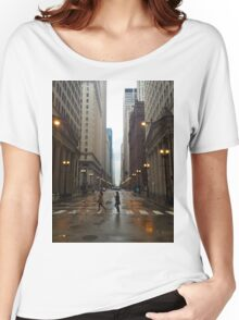 Walking in Chicago Rain Women's Relaxed Fit T-Shirt