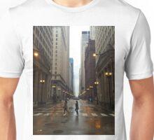 Walking in Chicago Rain Unisex T-Shirt