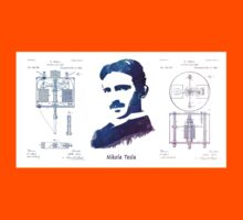 Nikola Tesla Patent Art Electric Arc Lamp Kids Clothes