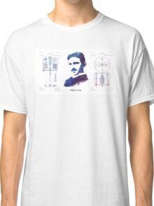 Nikola Tesla Patent Art Electric Arc Lamp Classic T-Shirt