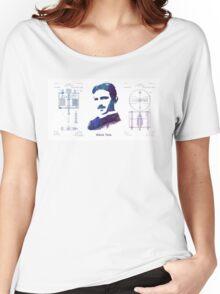 Nikola Tesla Patent Art Electric Arc Lamp Women's Relaxed Fit T-Shirt