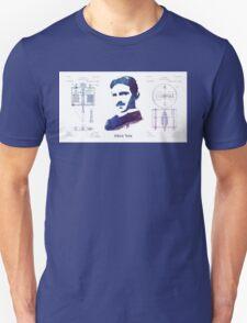 Nikola Tesla Patent Art Electric Arc Lamp Unisex T-Shirt