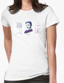 Nikola Tesla Patent Art Electric Arc Lamp Womens Fitted T-Shirt