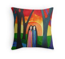 Ladies Of The Autumn Throw Pillow