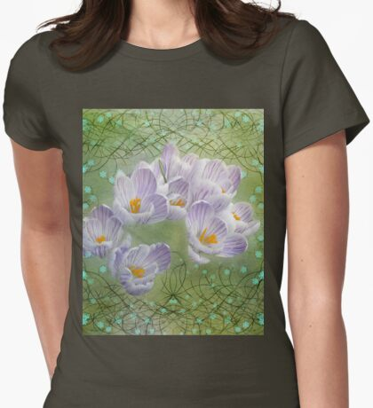 Decorative  crocus Womens Fitted T-Shirt