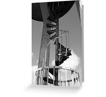 Black and White Staircase Greeting Card