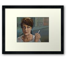 A Moment Of Thought Framed Print