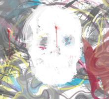Mad crazy skull design Sticker
