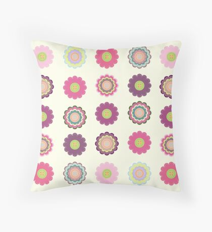 Flowers patch Throw Pillow