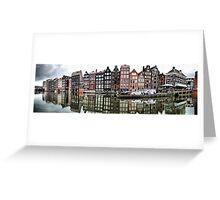 Amsterdam. Damrak pano Greeting Card