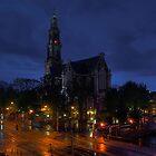 Amsterdam. Westerkerk at night by andreisky