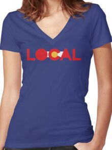 Colorado Local Series Women's Fitted V-Neck T-Shirt