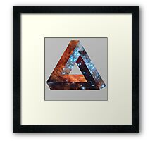 Impossible triangle galaxy Framed Print
