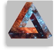 Impossible triangle galaxy Canvas Print