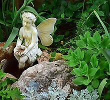 Angel Statue with Fauna Scarborough Faire by stevelink