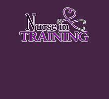 Nurse in Training Purple Heart Stethoscope Womens Fitted T-Shirt