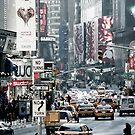Time Square NY-City by Jean M. Laffitau