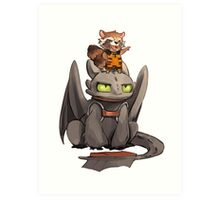How to train your dragon ! Art Print