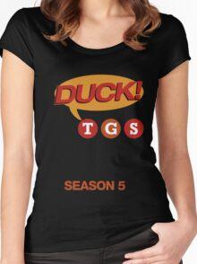 """30 Rock """"Duck!"""" T-shirt Women's Fitted Scoop T-Shirt"""