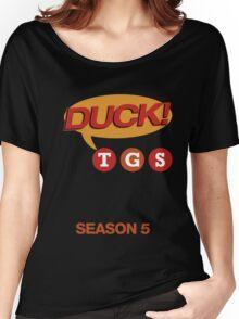 """30 Rock """"Duck!"""" T-shirt Women's Relaxed Fit T-Shirt"""