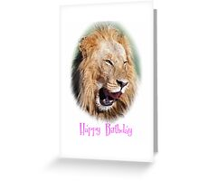lion happy birthday card Greeting Card