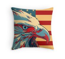 American Patriotic Eagle Bald Throw Pillow