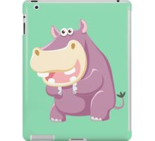 Claping purple hippo iPad Case/Skin