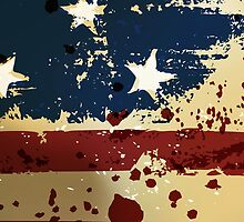 Grunge American Pariotic Flag  by CroDesign