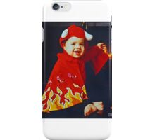 Devil Baby with Fire iPhone Case/Skin